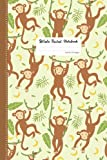 Monkey Wide Ruled Notebook: Monkey Notebook Cute Baby Monkey Blank Lined Notebook: 110 Pages 6x9