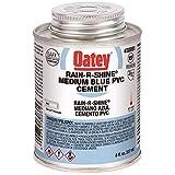 Oatey 30891 8 Oz Pvc Rain-R-Shine Blue Cement