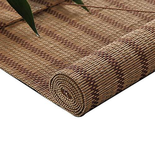 LMZJLU Bambus-Rollläden Raum Verdunkelungsvorhänge Lichtblockierende Vorhänge Roll-Trennwand Außen-Innenfenster Retro-Bambus-Vorhang (Größe: 120X200Cm)