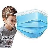 SOYES Medizinische Masken Kinder Mundschutz, TYP IIR CE Zertifizierte 200 Stück Einwegmasken Kinder Einweg-Gesichtsmaske - 3 Lagig Mund Nasen Schutzmaske - EN 14683 Maske für Kinder von 12-30 Blu