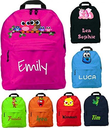 Kindergartenrucksack mit Namen & Wunsch-Motiv - pink