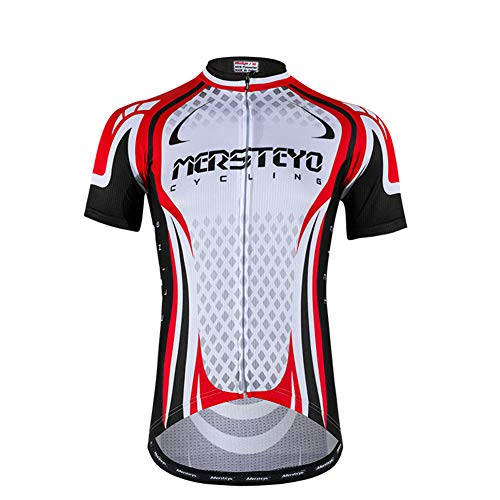 AZUOYI Sportswear, Bicycles, Cycling Clothes, Short Sleeves, Men's Mountain Bikes, Summer Cycling Clothes, Breathable,XXL