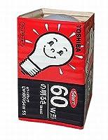 TOSHIBA シリカ電球 100V 60W形 E26口金 ホワイトランプ LW100V54W55