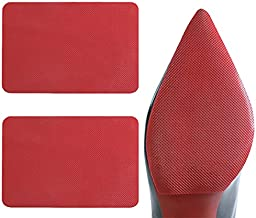 Dr. Foot Shoe Sole Protectors for Christian Louboutin Heels, Self Adhesive Silicone Non-Slip Shoes Cover Red Bottoms for Women