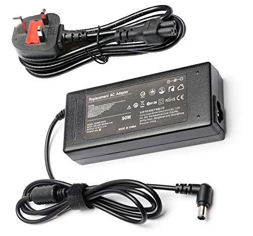 90W 19.5V 4.7A Ac Adapter Laptop Charger for SONY Notebook UK Supply Power, Fits SONY Vaio PCG-61611M PCG-71911M VGN VPC Series AC Adapter, VGP-AC19V33 VGP-AC19V37 VGP-AC19V32 VGP-AC19V31