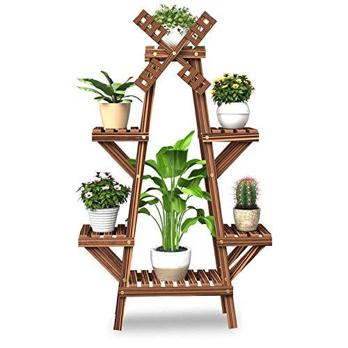 GAXQFEI 3 Número de Jardín Flor Planta Soporte Pantalla Pantalla Pot Sart Port Soporte Plegable Plegable Multifuncional Alenamiento Estante Estantería para Jardín Inicio Balcón