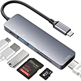 【2021最新版】USB C ハブ USB Type C ハブhub 6in1 MacBook USB3.0 USB2.0 ハブ 6ポート 4K HDMI出力 68W PD急速充電 microSD & SDカードリーダー コンパクト 高速データ転送 変換アダプタ 軽量 MacBook/MacBook Pro/ChromeBook/Surface GO/Pro7等対応 (Silver)