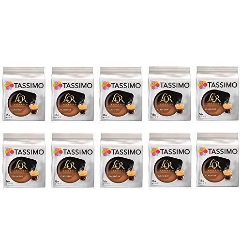 Tassimo LOr Espresso Classic Kaffeepads - 10 Packungen (160 Getränke)