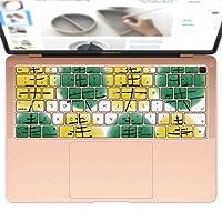igsticker MacBook Air 13inch 2018 専用 キーボード用スキンシール キートップ ステッカー A1932 Apple マックブック エア ノートパソコン アクセサリー 保護 016282 植物 草