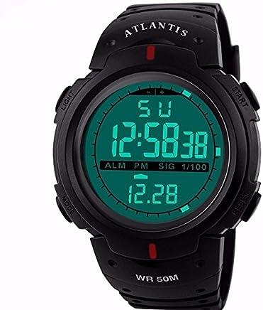 c7af8afc2b6 Relogio Digital Atlantis Data Cronometro Numeros Grandes C4 - Frete Grátis