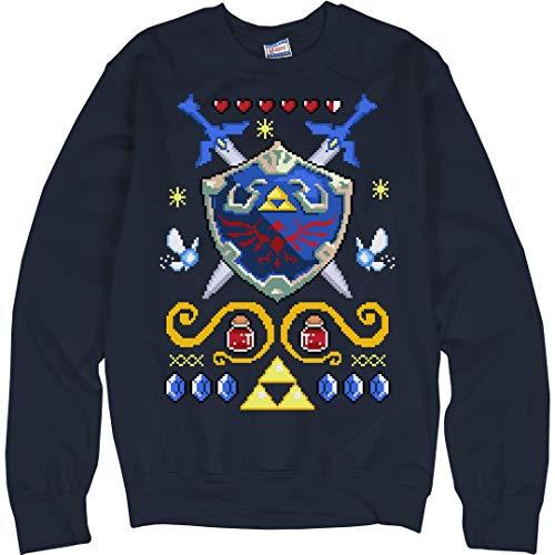 FunnyShirts.org The Ugly Legend of Xmas: Unisex Ultimate Crewneck Sweatshirt Navy