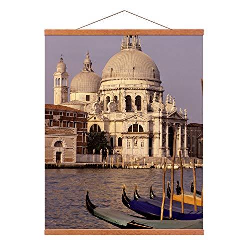 Bilderleiste Elegant Posterschiene Magnetisch aus Holz für DIY Bilder Poster aufhängen Schöne Deko an der Wand A3 (30CM)
