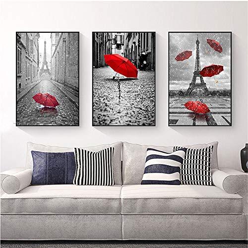 WSNDG Woonkamer geometrische patroon decoratieve schilderij zonder fotolijst 30x50CMx3 C1