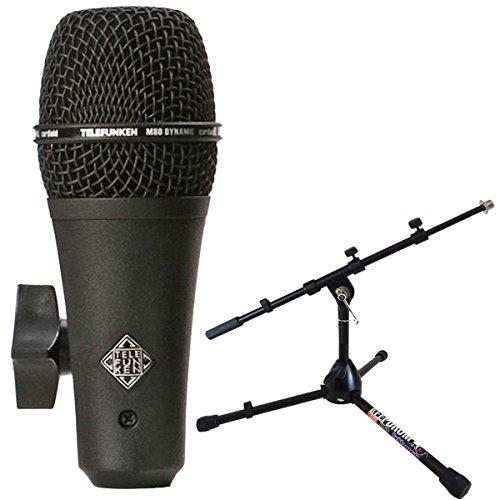 Telefunken M80de SH Black dinámico micrófono Keepdrum MS118Micrófono trípode pequeño