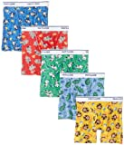 Fruit of the Loom 5 Pack Assorted Print & Solid Boxer Briefs, Solids - Assorted (Pack of 5), 4T