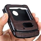 DAMONDY Schutzhülle für Motorola Razr 5G, Motorola Razr 2020, schmal, dünn, Krokodil-Muster, Leder, Schutzhülle für Motorola Razr 5G, Braun