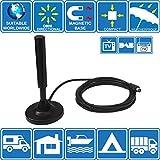PorTA-Magnet TV HD numérique omnidirectionnelle portable intérieure / extérieure, antenne UHF, FM...