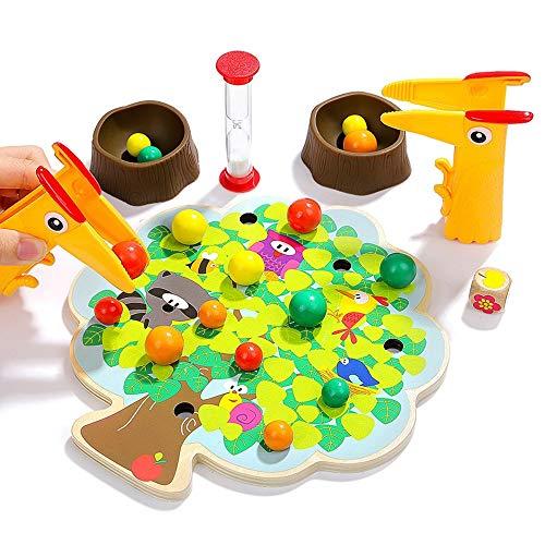 Lihgfw Little Bird Eats Fruit Clip Musik Brettspiel for Kinder pädagogische Aufklärung Eltern-Kind-Spielzeug 3-6 Jahre alt Intellectual Spielzeug Eltern-Kind-Spielzeug (Color : Multi-Colored)