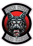 Lone Wolf No Club Version 1 Decal Small 3' in Size in The United States.