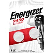Energizer CR2450-Batterien in Blisterpackung, Lithium, 3V, 2Stück