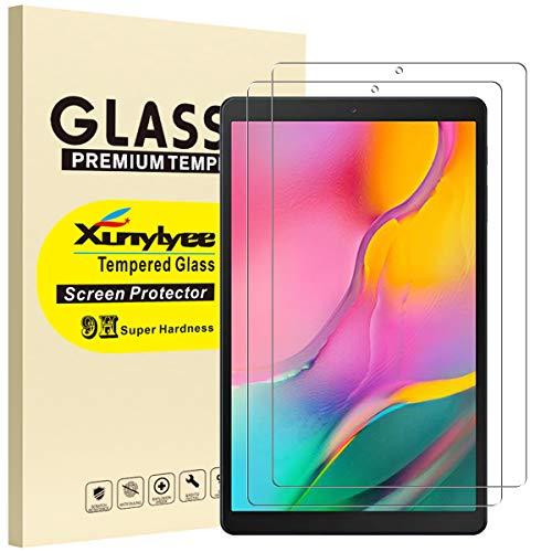 XunyLyee [2 Piezas] Protector de Pantalla Compatible Con Samsung Galaxy Tab A 10.1 2019, Cristal Templado Film para Galaxy Tab A 10.1 2019 SM-T510/T515