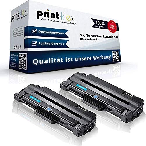 2x Kompatible Tonerkartuschen für Samsung SCX 4600 FN SCX 4623 F SCX 4623 FN SCX 4623 FW SCX 4623 Series MLT-D105 MLT D105 MLTD105 Black Schwarz - Office Line Serie