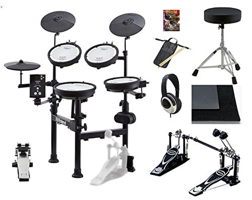 護衛足枷奪うRoland ローランド TD-1KPX2 ツインペダル?池部楽器店オリジナル?フルセット [V-Drums Portable] 【イス、ツインペダル、スティック、スティックバッグ、ヘッドフォン、ドラムマット、教則DVD:付属】