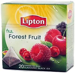Lipton Black Tea - Forest Fruit - Premium Pyramid Tea Bags (20 Count Box)