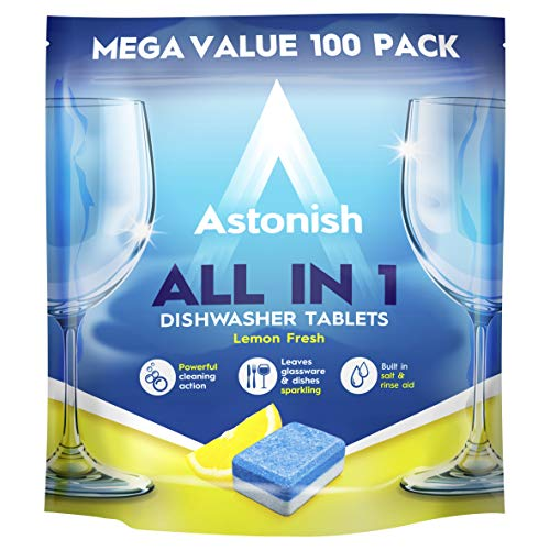 Astonish All in 1 Dishwasher Tablets, 100-Piece