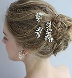 Anglacesmade Bridal Crystal Headband Horquillas para el pelo y peine Marquise boda joyería Set para dama de honor novia fiesta fiesta Festival accesorios para el cabello para mujeres y niñas