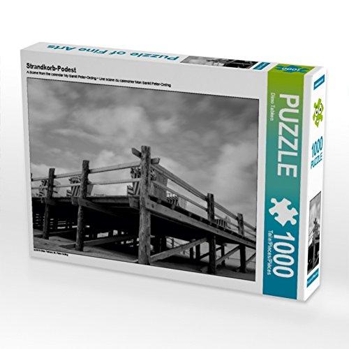 CALVENDO Puzzle Strandkorb-Podest 1000 Teile Lege-Größe 64 x 48 cm Foto-Puzzle Bild von Dimo Tabken