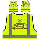 Pastelería Sabrosa Chaqueta de seguridad amarillo personalizado de alta visibilidad r406v