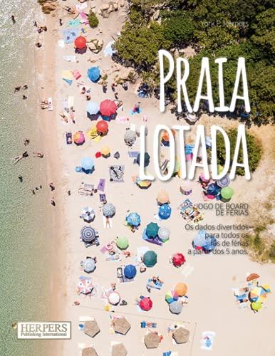 Praia lotada Jogo de tabuleiro de férias