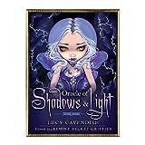 S-TROUBLE Oracle of Shadows and Light Juego de Mesa de Fiesta Familiar en inglés Completo 45 Cartas Baraja Tarots Adivinación Cartas de Destino
