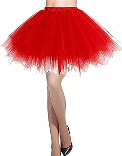 Vertvie Damen Kurz Rock 50er Vintage Ballet Blase Tulle Petticoat Tutu Retro Unterrock Minirock Tanzkleid Rock
