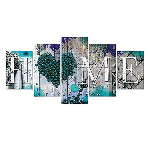 SuperDecor DIY 5D Diamond Painting Kits Full Drill Diamond Embroidery by Number Kits for Adults and Kids Home Walls Decor Blue Home Pattern