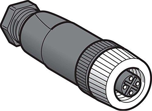 Telemecanique Sensors XZCC12FDM40B Rechte Connector, Vrouwelijk, M12-formaat, 4-pins, Metalen kraag, PG7-kabelwartel, 3 A Huidig