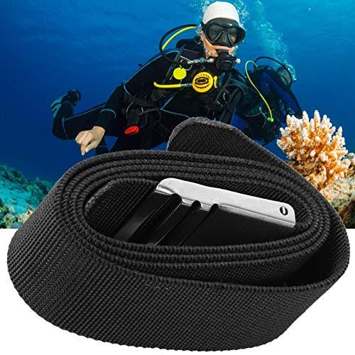 Kuuleyn Cinturón de Cintura para Buceo, cinturón de Peso Ajustable para Buceo con Hebilla de Acero Inoxidable de liberación rápida para pasear en Bote, Nadar, esnórquel, Kayak