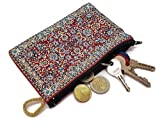 MYSTIC JEWELS - Monedero Pequeño para Tarjetas, Llaves, metalicos - diseño de Alfombra - Turco Traditional (15x10cm) (Color13)