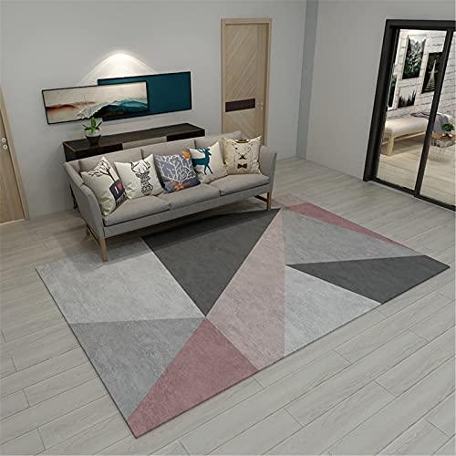 MMHJS Alfombra Abstracta Simple Mobiliario para El Hogar Alfombra Rectangular Grande Suave Y Agradable para La Piel 60x120cm