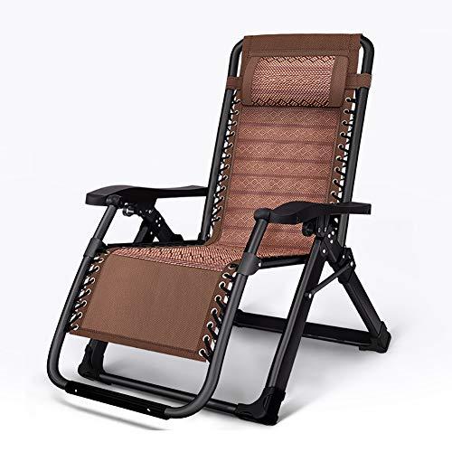 HUAYIN Silla de ratán Plegable Ligera, sillón reclinable para Tomar el Sol Ajustable   Chaise de salón de Playa portátil al Aire Libre Junto a la Piscina para Patio al Aire Libre