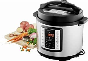 Insignia - 6-Quart Multi-Function Pressure Cooker - Stainless Steel (Renewed)