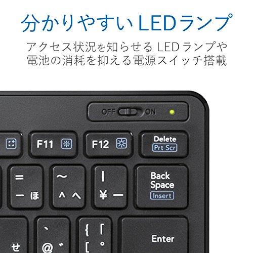 エレコムキーボードBluetoothパンタグラフミニキーボードWindows・Mac・iOS・Android対応【変換/無変換/メニューキー搭載】ブラックTK-FBP100BK