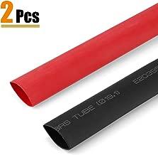 URBEST Heat Shrink Tubing Dual Wall Heat Shrink tubing 3/4'' Heat Shrink Tube 3:1 Adhesive-Lined Heat Shrinkable Tubing Black & RED, 2 Pack, 1.22M/4Ft Long