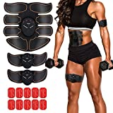 Abs Muscle Toner Abdominal Toing Belt Muscle Trainer Wireless Portable Work Out Ads Power Fitness Training Device for Men Women with 6 Modes 10 Levels