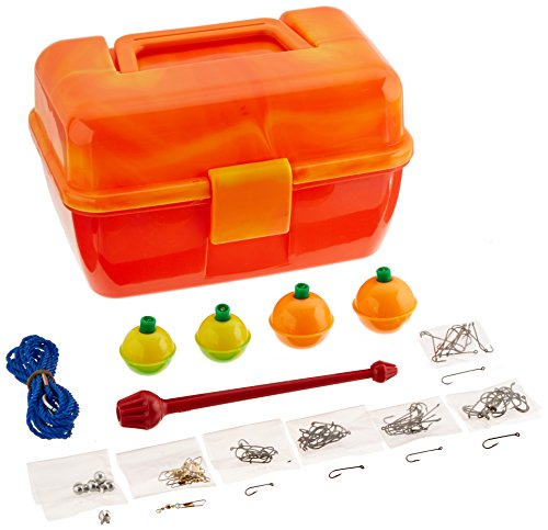 South Bend Worm Gear Tackle Box, 88 piece, Color may vary
