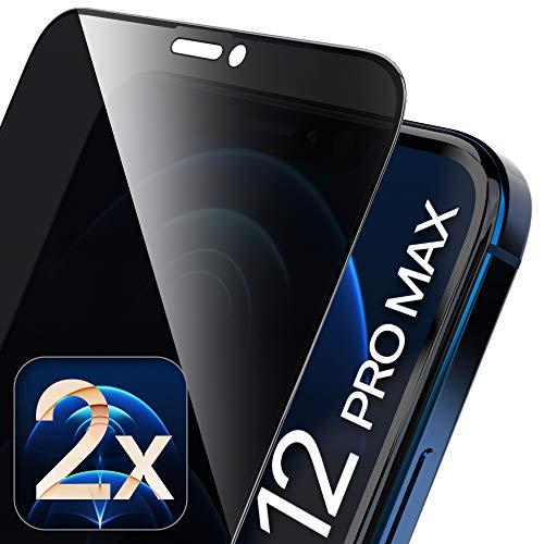 UTECTION 2X Full Screen Privacy Sichtschutzfolie für iPhone 12 PRO MAX (6.7