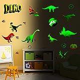 Dinosauro luminoso Adesivi Murali,14 Pezzi Adesivi Murali Luminosi di Dinosauri,Adesivi Mu...
