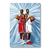 XXYYKK Kobe James Jordan NBA Poster Basketball Star Meer