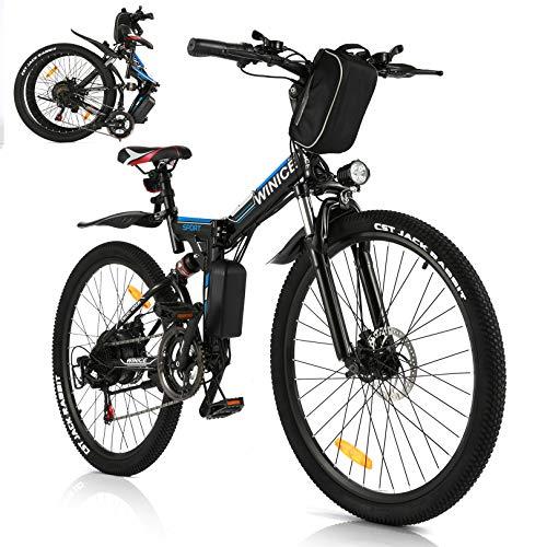 VIVI E-Bike Faltbares Elektrofahrrad,Erwachsene 26 Zoll Ebike Mountainbike Für Herren und Damen 350W Motor Professionelle Shimano 21-Gang-gänge Abnehmbare 36V/8Ah Batterie